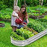 """Gadi raised garden bed kit for vegetables flower galvanized metal planter boxs designed for easy diy and cleaning not… 10 more suitable raised garden bed size and volume:67""""l x 20""""w x10""""h, 7 cu. Ft. You can cultivate plants, like vegetables, flowers, herbs in your patio, yard, garden, and greenhouse. Built to last: the raised garden bed body made of steel plates galvanized layer and 2 layers of anti-corrosion paint, strong anti-rust performance to keep your garden bed looking its best for years to come. Open-bottom garden bed: built with an open base to prevent water buildup and rot, while allowing roots easy access to nutrients. Side ventilation:side ventilation can enhance the respiration of plant roots and facilitate the removal of excess water. Keep your plants healthy!"""