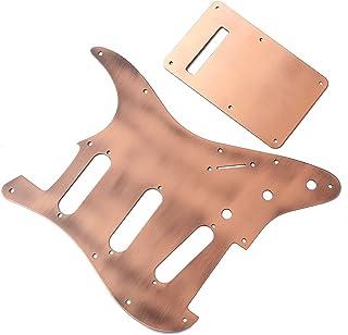 Rosenice - Golpeador de guitarra profesional con placa trasera cargada precableada eléctrica para Fender Strat Stratocaster Latón