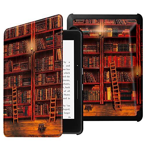 Fintie Hülle für Kindle Voyage - Fintie Ultradünne Lightweight Schutzhülle Tasche Cover mit Auto Schlaf/Wach Funktion Standfunktion nur geeignet für Kindle Voyage, die Bibliothek
