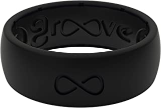 Groove Life Silicone Wedding Ring for Men - Breathable Rubber Rings for Men, Lifetime Coverage, Unique Design, Comfort Fit Mens Ring - Original