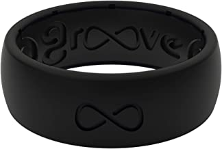 Groove Life Silicone Wedding Ring for Men - Breathable Rubber Rings for Men, Lifetime Coverage, Unique Design, Comfort Fit Mens Ring - Original Solid