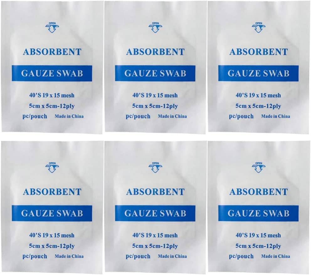 Healifty Gauze Swab Pads Sw Cotton Absorbent Bandage 67% OFF of fixed price Max 76% OFF