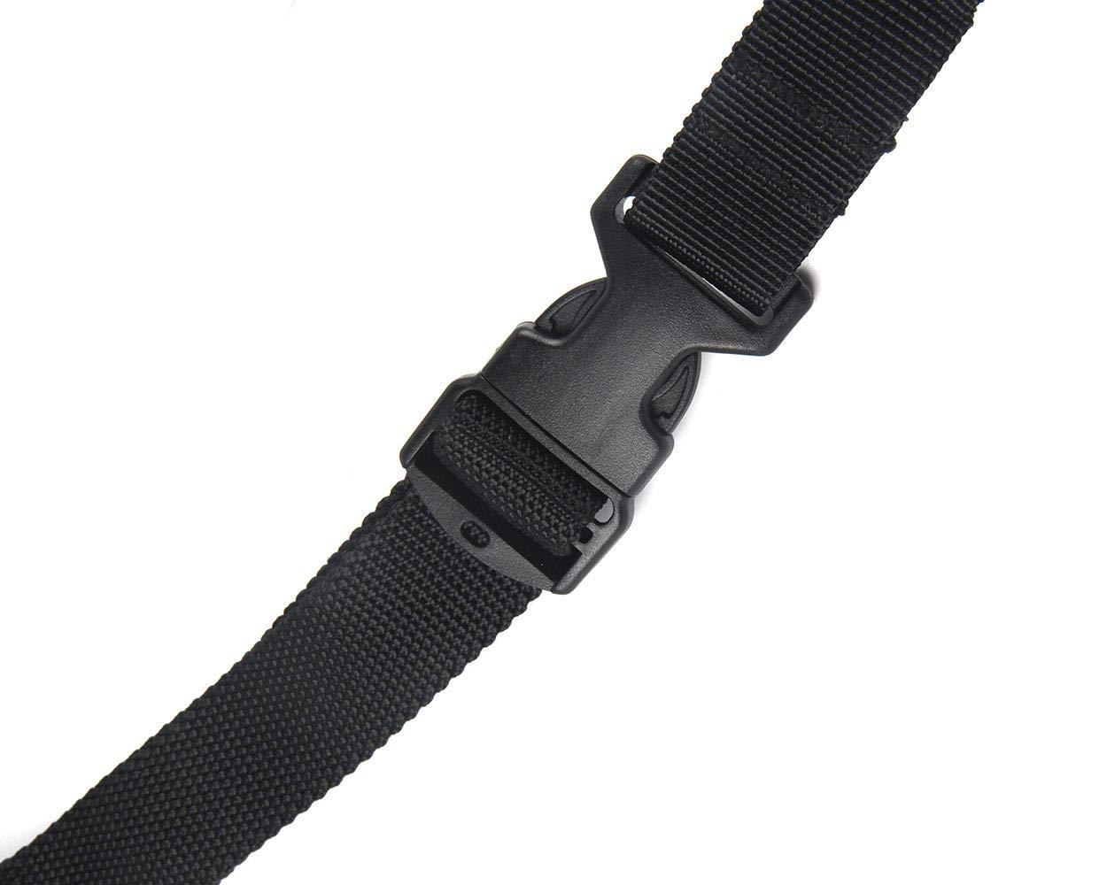 Oleader 1 punto Rifle Sling multiusos pistola ajustable correa de hombro cuerda con cord/ón el/ástico para la caza Camping Deportes al aire libre negro