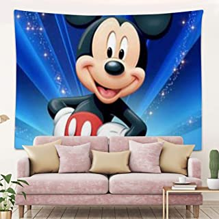 DISNEY COLLECTION Tapestry Mickey Mouse Wallpaper Hd Tapestry for Living Room Bedroom Dorm Home Decor 80 Inch60 Inch