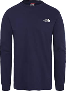 North Face Simple Dome Long Sleeve T-Shirt Large Montague Blue
