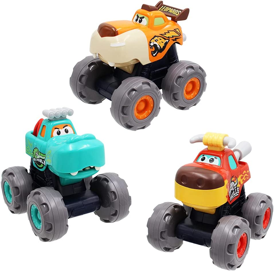 Monster Truck Large-scale sale Toys for Baby Boy and Powered Car Friction At the price Push