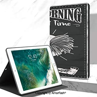 Kitchen Decor Full Body Rugged Cover for Samsung Galaxy Tab A 7.0 Inch Tablet 2016 Release T280/T285,Chalkboard Kitchenware Menu Art Morning Rooster Retro Style Cafe Home Design Utensils