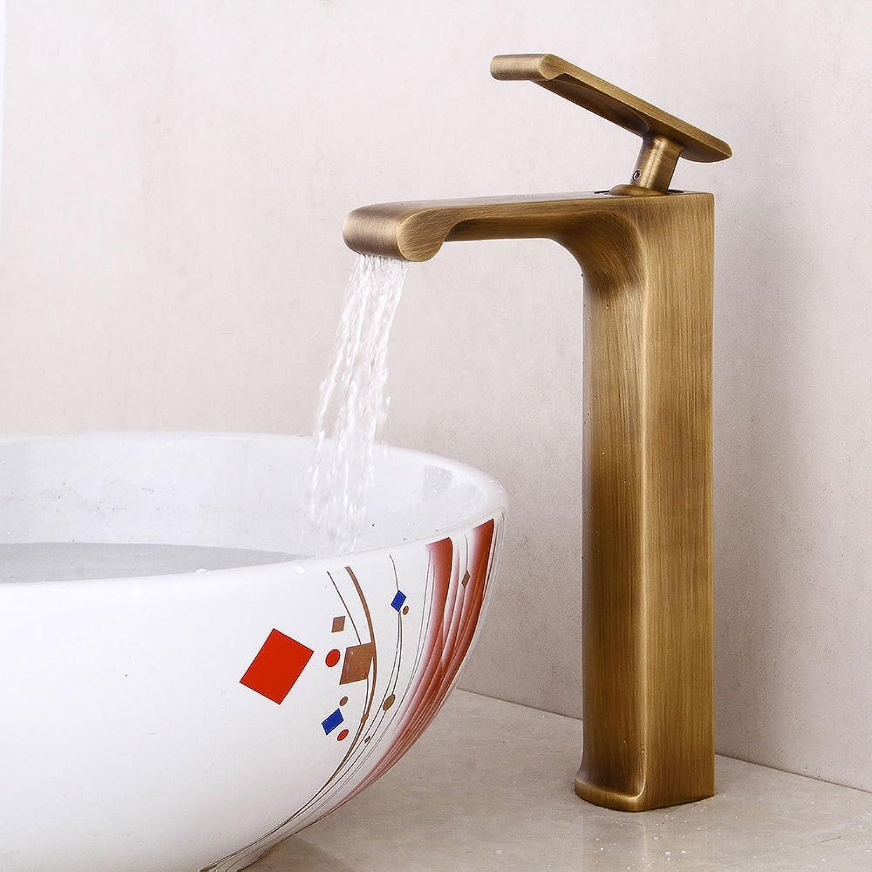 Bathroom Sink Tap European Retro Basin Faucet Antique Basin Sink Mixer Tap Waterfall Faucet Hot and Cold Bathroom Faucet