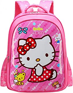 YOURNELO Boys Girls Cartoon PU Waterproof Rucksack School Backpack (Hello ...