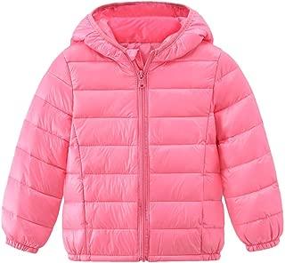 KONFA Winter Keep Warm Hooded Jacket Clothes for 1-7T Little Kids Toddler Baby Boys Girls Windbreaker Outerwear Down Coat