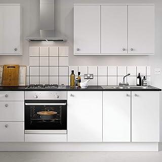 KINLO 5 x 0.61 m Vinilo Pegatina Muebles de Cocina Pantalla PVC Engomada Autoadhesivo Protege o Decora Armario y Aparatos Eléctricos Impermeable Pegatina Blanco