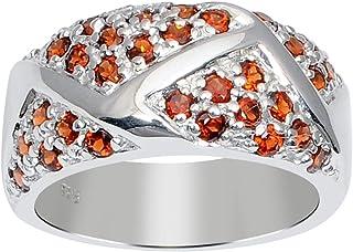 خاتم من الفضة الإسترلينية عيار 1.60 قيراط للنساء من أوركيد جويلر: حجر المولد المثالي لشهر يناير