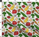 Gemüse, Comic, Seltsam Stoffe - Individuell Bedruckt von