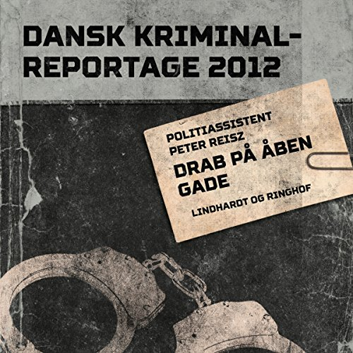 Drab på åben gade audiobook cover art
