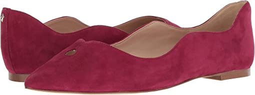 Pomegranate Pink Suede Leather