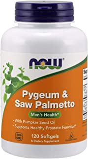 NOW Supplements, Pygeum & Saw Palmetto with Pumpkin Seed Oil, Men's Health*, 60 Softgels