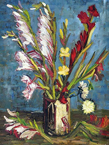1art1 Vincent Van Gogh - Vase Mit Gladiolen, 1886 Poster Kunstdruck 80 x 60 cm