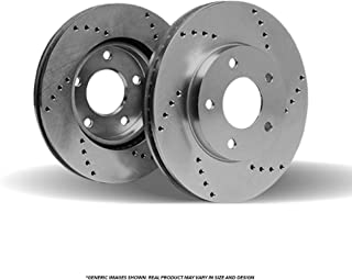(Front Rotors) 2 HD SPEC Cross Drilled Brake Rotors-(5lug)