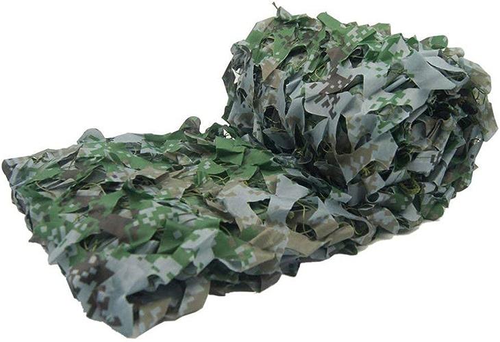 Qjifangfsh Bache imperméable Camouflage Net, Tissu Oxford utilisé dans Le désert Woodland Camping Militaire Chasse Sniper Couverture de Voiture cachée, Vert Tente de Jardin (Taille   5M Wide 10M Long)