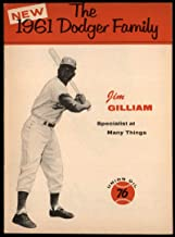 Baseball MLB 1961 Union Oil Family Booklets #8 Jim Gilliam small tear