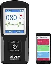 Vive Precision EKG Monitor (App Included) - Portable Pocket ECG Device - Heart Rate Tracking Sensor Detects Irregular Cardiac Rhythm - Wireless Electrocardiogram Test Made Easy - Smartphone Compatible