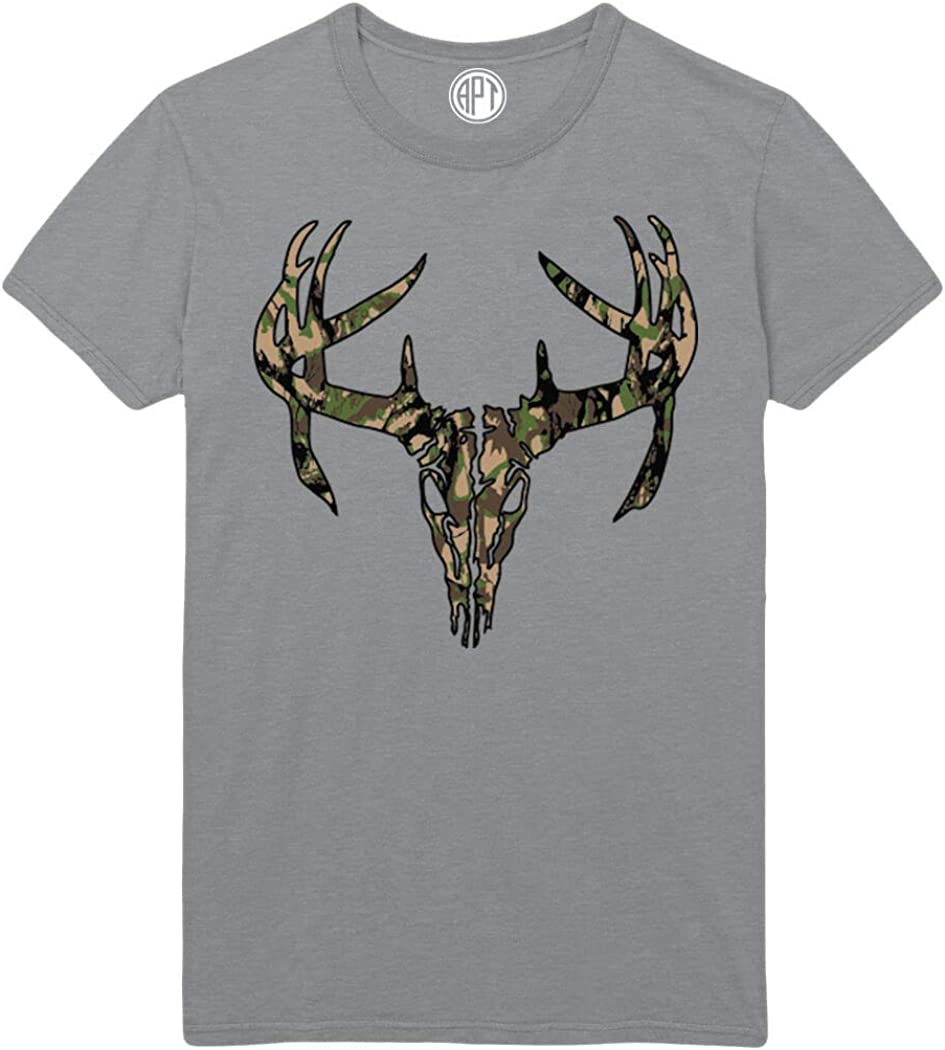 Deer Skull Antlers Super Special SALE held Camo Printed T-Shirt store