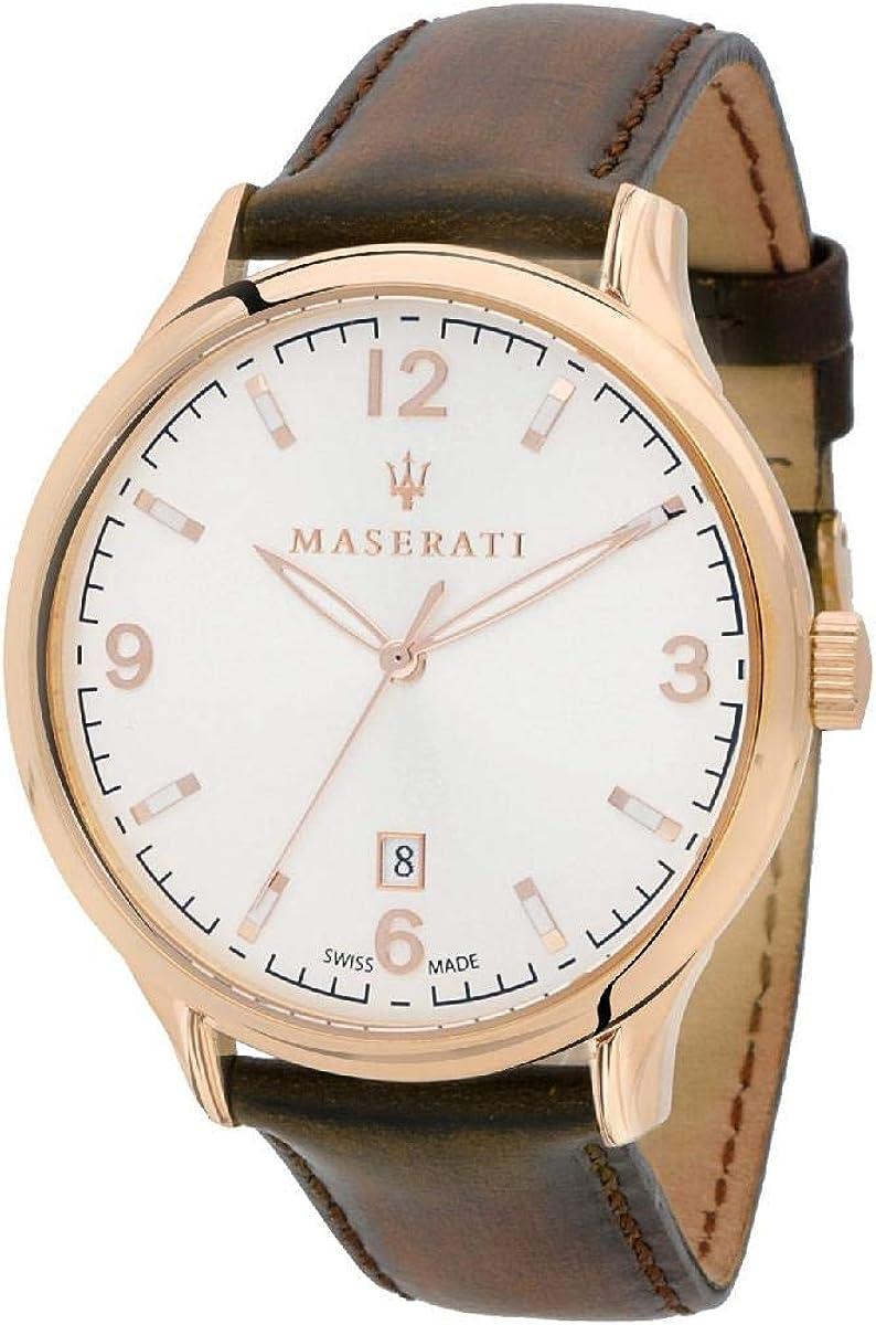 Reloj para Hombre, Colección ATTRAZIONE, en Acero, Cuero - R8851126002