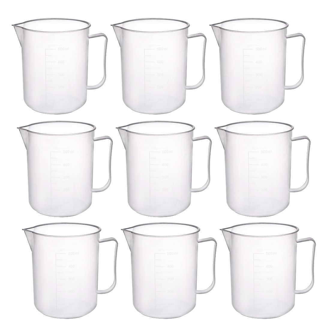 Ranking TOP18 uxcell Measuring Cup 40% OFF Cheap Sale 500ml PP Beaker Graduated Plastic Transpare