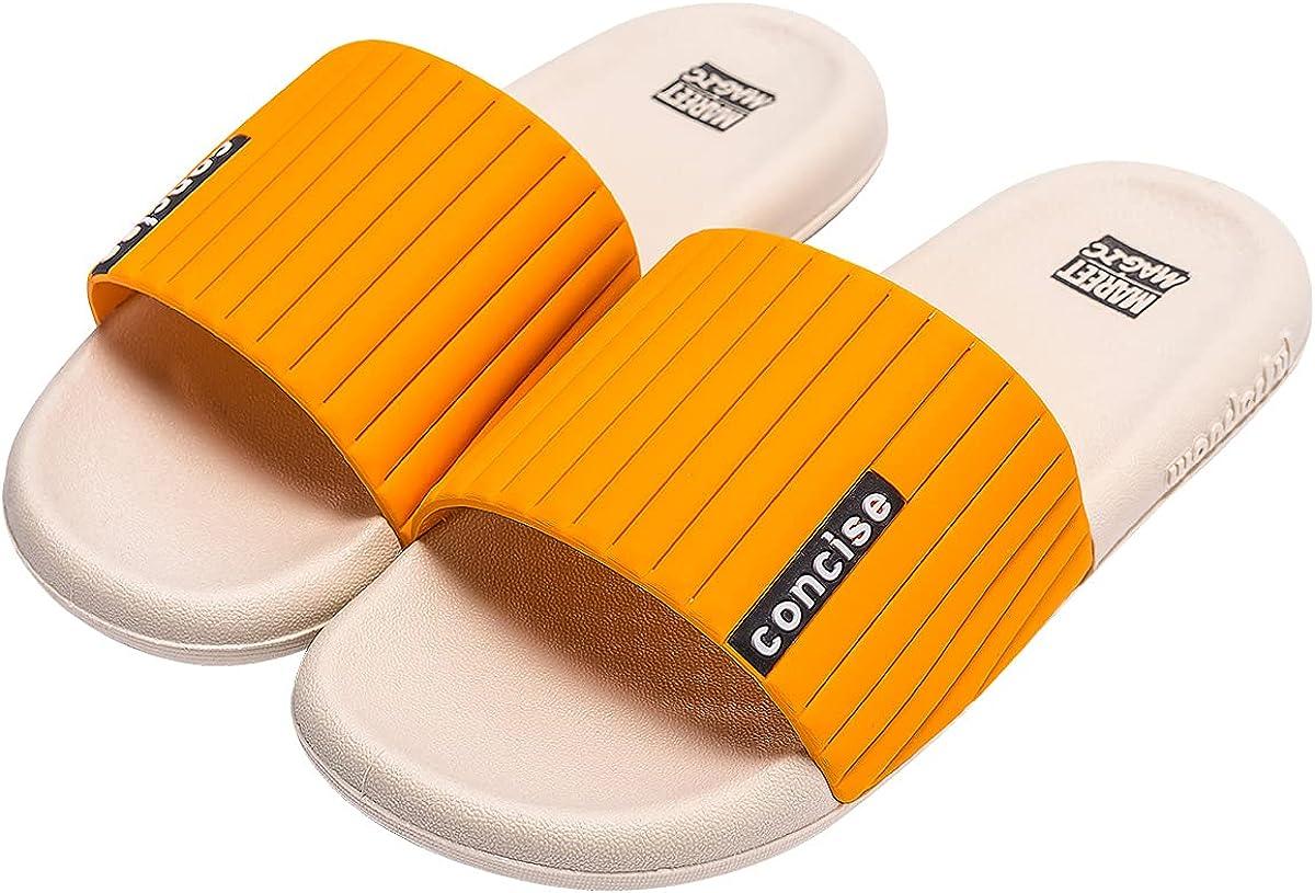 Men's Women's One Slide Sandals Home Bathroom Slip On Slippers Ultra Comfort Summer Shoes
