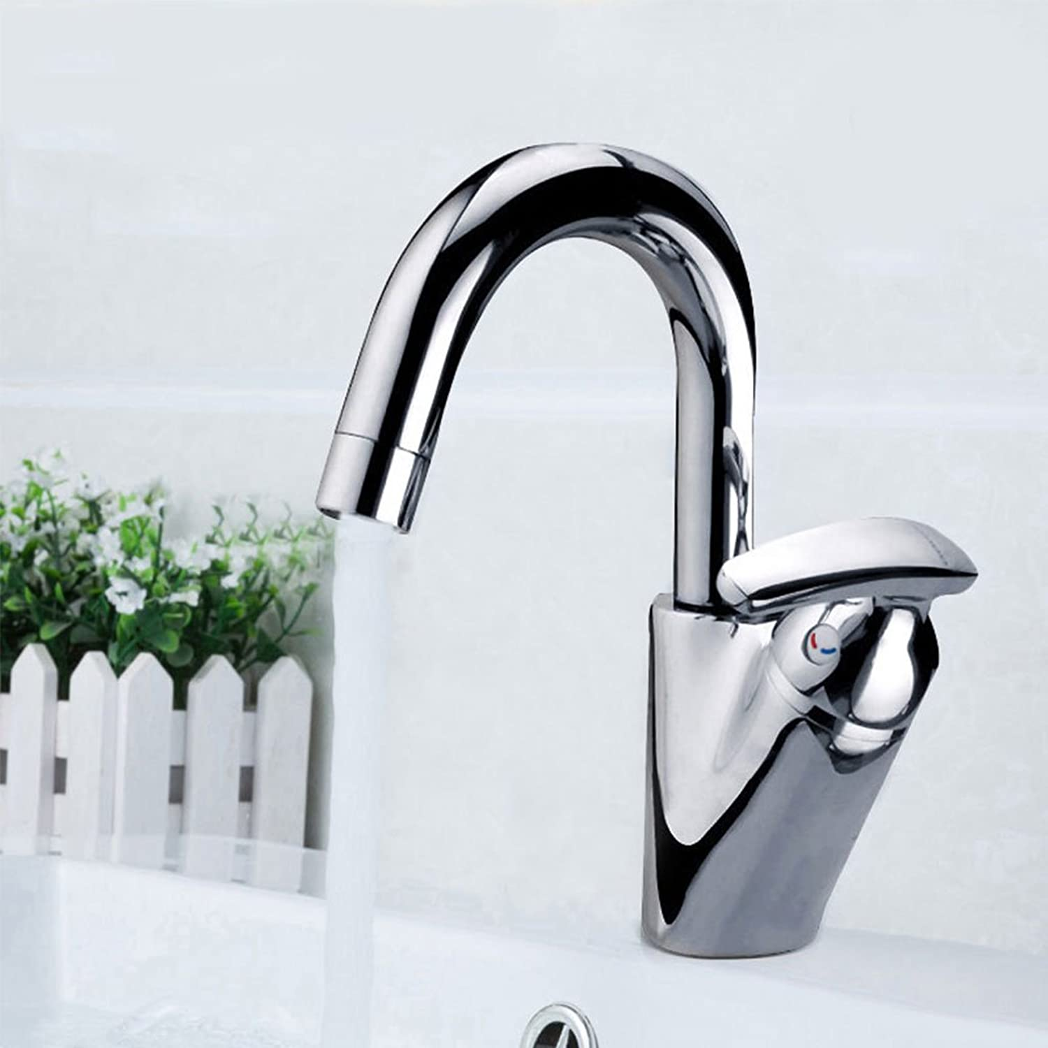 Creative Fashion Thickening High-end Fine Copper Faucet Bathroom Kitchen Basin Mixer