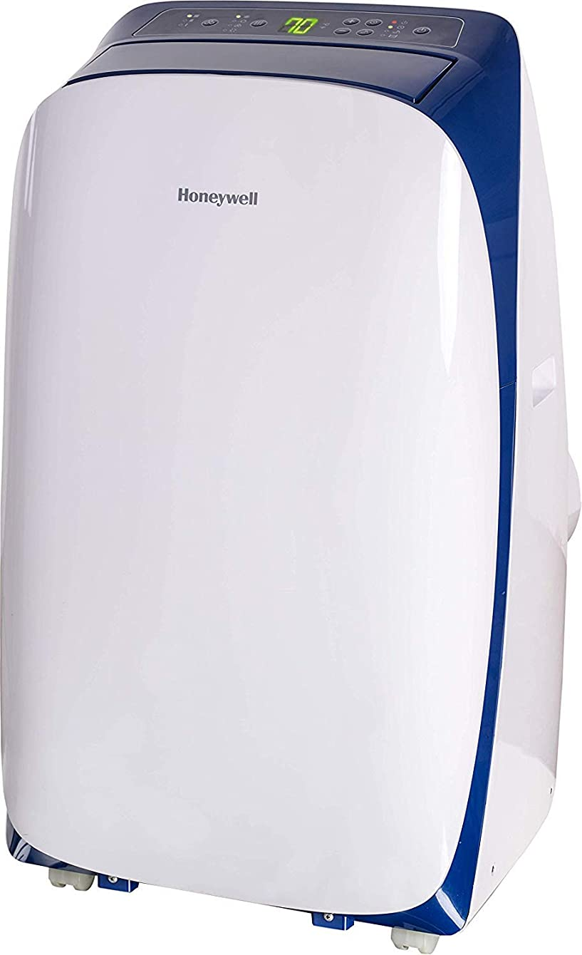 HONEYWELL 14000 Btu Portable Air Conditioner, Cools Rooms Up to 550-700 Sq. Ft, Dehumidifier & Fan Dual Filter with Remote Control, HL14CESWB