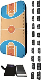 002735 - Basketball Arena floor Design Samsung Galaxy S6 Edge Credit Card Flip Case Purse pouch Stand Cover