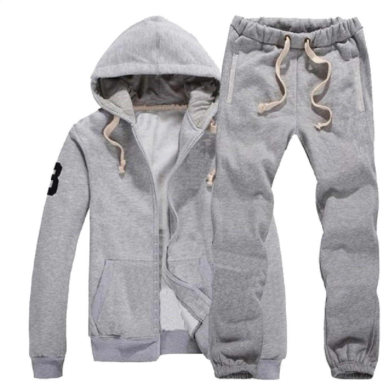 Andopa Herren lssige freizeitsport hood warm 2-teiliges fleece anzug outfit