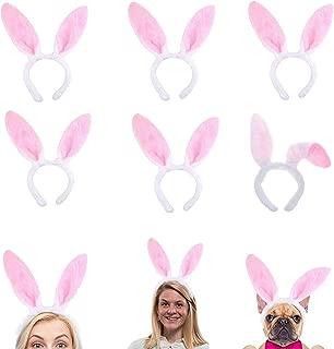 Plush Bunny Ears Hairbands, Cute Bunny Headband Easter Bunny Ears Hairbands for Party Decoration Party Favor, 6 PCS