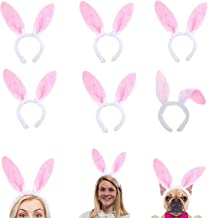 Plush Bunny Ears Hairbands, Cute Bunny Headband Easter Bunny Ears Hairbands for Party Decoration Party Favor, 6 PCS