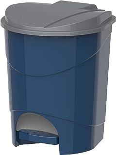 Cosmoplast Plastic Pedal Trash Waste Bin, Pearl Blue, 15 Liters, IFHHXX313PB