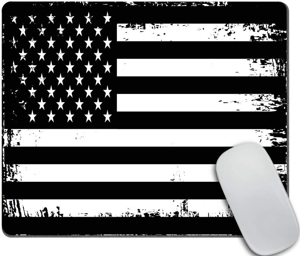 Amcove Surprise price Grunge Finally resale start American Flag USA Black Mouse N White pad and