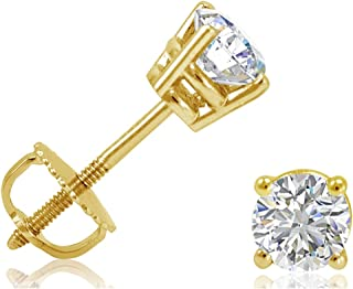 Best 14k yellow gold diamond stud earrings Reviews