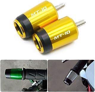 "Hunter-Bike Motorcycle 7/8"" Handlebar Bar Ends Plugs Slider for Yamaha MT10 MT-10 FZ-10 FZ10 2013-2019 (Gold)"