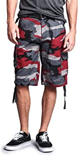Men's Ripstop Belted Cargo Shorts
