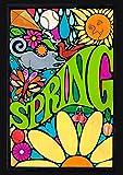 Toland Home Garden Groovy Spring 28 x 40 Inch Decorative Spring Psychadelic Vintage Retro House Flag