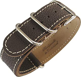Fluco 2-Piece MoD G10 22mm Brown Leather Watch Strap