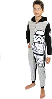 Star Wars Stormtrooper Boys Fleece Hooded Union Suit Pajamas