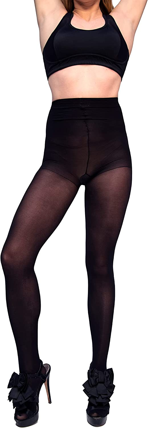 Curvation Women's Tummy Smoothing Plus-Size Slimming Tights #9903571