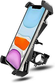 Soporte Movil Bici, 360° Rotación Soporte Movil Moto Bicicleta, Anti Vibración Porta Telefono Motocicleta Compatible con i...