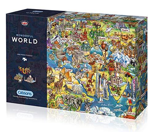 Gibsons Wonderful World Puzzle (1000 Teile), Mehrfarbig