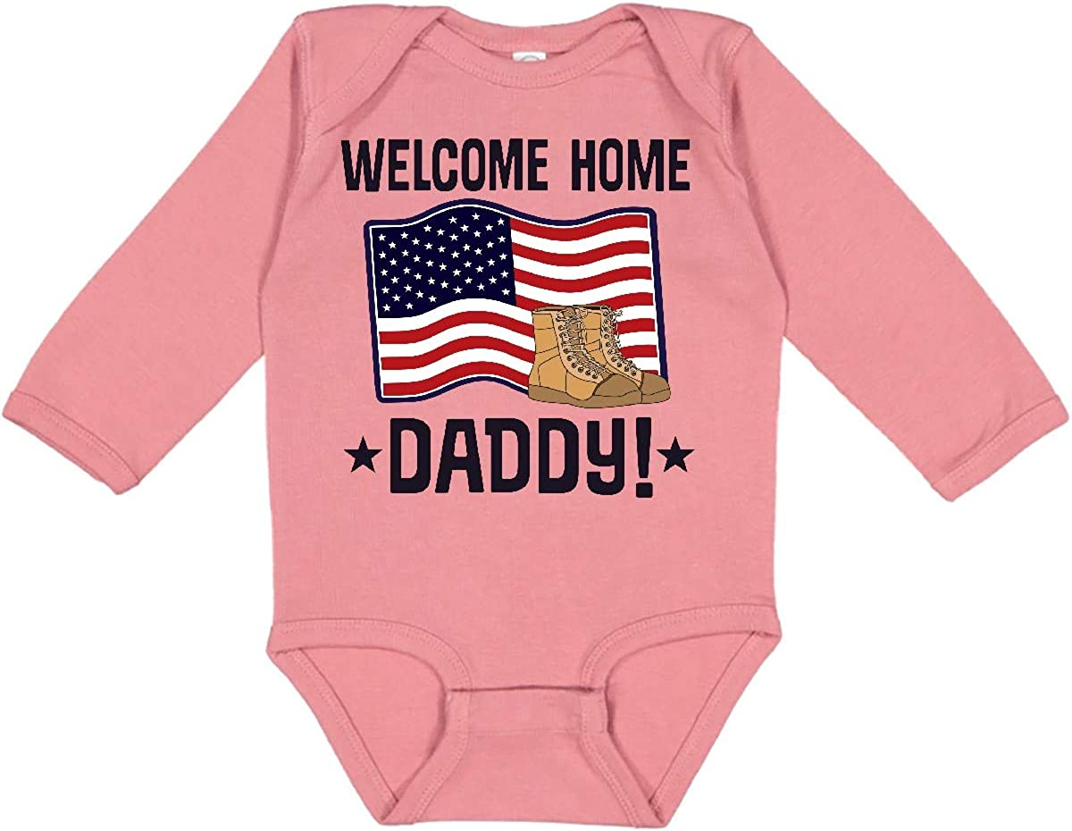 inktastic Military Daddy Welcome Home Long Sleeve Creeper