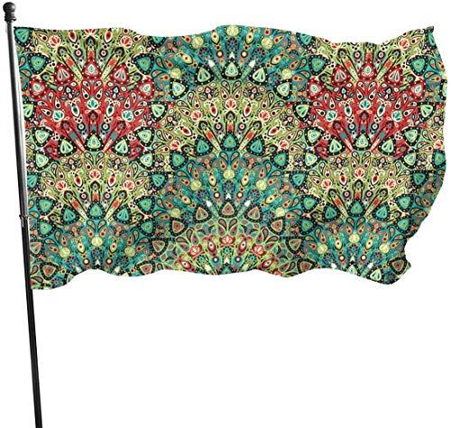 Bandera de jardín Retro de los años 60 geométrica para Exteriores, 3 x 5 pies, Bandera de Estados Unidos, poliéster Resistente a la decoloración, Vallas Decorativas, jardín, Patio, césped.
