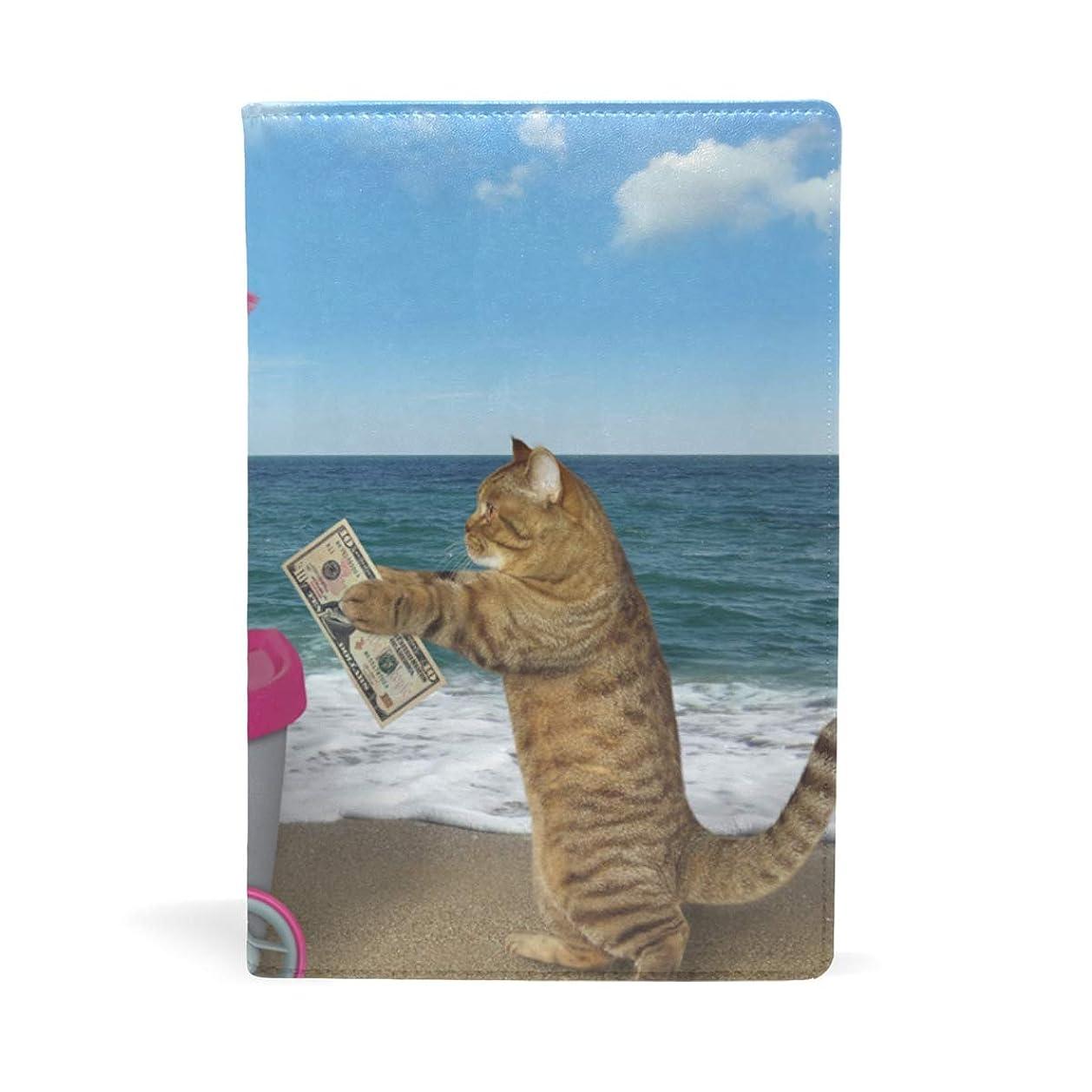 空美徳冒険家ドーナツを売る猫 ブックカバー 文庫 a5 皮革 おしゃれ 文庫本カバー 資料 収納入れ オフィス用品 読書 雑貨 プレゼント耐久性に優れ