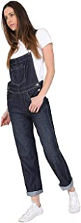 Ladies Regular Fit Darkwash Denim Dungarees Ladies Bib-Overalls